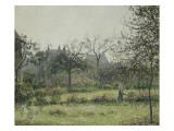 Femme dans un verger, matinée d'automne, jardin d'Eragny Giclee Print by Camille Pissarro