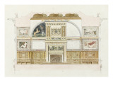 Album of Drawings of the Castle of Fontainebleau Said Giclee Print