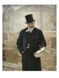 Adolphe Alphand (1817-1891), directeur des travaux de Paris sous le Second Empire Giclee Print by Alfred Roll