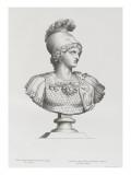 Tableau du Cabinet du Roi, statues et bustes antiques des Maisons Royales Tome II : planche 3 Lámina giclée por Etienne Baudet