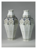 Vases Auxerre Tails, Painted Flowers, Green Hazelnuts Giclee Print
