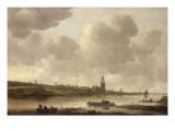 Vue de Rhenen Giclée-tryk af Jan Van Goyen