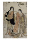 Femmes des marais salants Giclee Print by Torii Kiyonaga