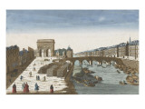 View from the Bridge Tournelle and Door St. Bernard Giclee Print