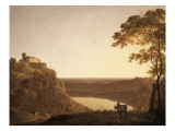 Vue du lac de Nemi au soleil couchant Giclee Print by Joseph Wright