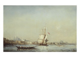 Vue de Constantinople Reproduction proc&#233;d&#233; gicl&#233;e par F&#233;lix Ziem