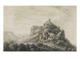 View of the Ruins of the Tower of Seneca to Corsica Giclee Print