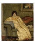 Femme assise dans un canapé Giclee Print by Théophile Alexandre Steinlen