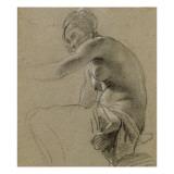 Femme assise à demi nue Giclée-Druck von Simon Vouet