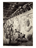 Workshop Sculptors Construction of the Paris Opera Giclee Print by Louis-Emile Durandelle