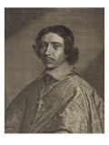 Jean-François-Paul de Gondy, cardinal de Retz, coadjuteur de l'Archevêque de Paris, cardinal en Giclee Print by Robert Nanteuil