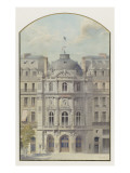 Vaudeville Theatre (Paris): Elevation of the Rotunda Giclee Print by Auguste-Joseph Magne