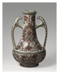Vase, Two Handles Decorated with Polychrome Flowers Giclee Print