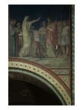 Le baiser de Judas et Joseph vendu par ses frères, cinquième travée du côté droit de la nef de Reproduction procédé giclée par Hippolyte Flandrin