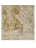 Vierge à l'Enfant en buste ; figures ; essais d'écriture Giclée-Druck von Andrea del Verrocchio