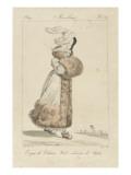 Merveilleuse : Toque de velours Giclée-Druck von Horace Vernet