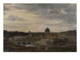 Vue de Rome par temps d'orage Giclée-Druck von Pierre Henri de Valenciennes