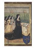 Livre d'heures. Heures à la Vierge allaitant. Folio 23 : La Vierge à l'Enfant (recto). Donatrice Reproduction procédé giclée par Jean Fouquet