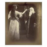 Vivien and Merlin Lámina giclée por Julia Margaret Cameron