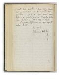 Volume I: Letter-Autograph Evolene, August 22, 1981 Giclee Print by Etienne Moreau-Nelaton