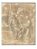 Vision de saint Gr&#233;goire Giclee Print by Nicol&#242; dell&#39; Abate