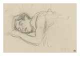 Woman Sleeping, Right Cheek Resting on the Left Hand Lámina giclée por Henri de Toulouse-Lautrec