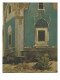 Fenêtre bordée d'émail vert. Mausolée de Mehmet I à Brousse (Turquie),construit vers1421 Reproduction procédé giclée par Alberto Pasini