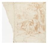 Femme et enfant dans un paysage Giclée-Druck von Arnould de Vuez