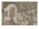 View of the Castle Trianon Taken in the French Garden Giclee Print by Louis Nicolas de Lespinasse