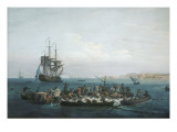 Vue du Golfe de Bandol, pêche au thon Giclee Print by Claude Joseph Vernet