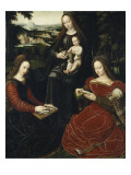 Virgin and Child with St. Barbara and St. Catherine Giclee Print by Ambrosius Benson
