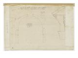 Coupe verticale du Panthéon de Rome et profil d'un entablement Giclée-Druck von Herman Vischer