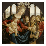 La Vierge et l&#39;Enfant Reproduction proc&#233;d&#233; gicl&#233;e par Domenico Ghirlandaio