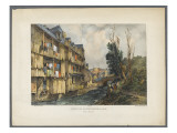 Vue de la ville de Pau : pont de la fontaine Giclee Print