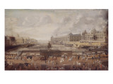 Vue du pont Neuf, du Louvre et de l'Institut, vers 1680 Giclee Print
