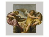 Deux anges musiciens Reproduction proc&#233;d&#233; gicl&#233;e par Philippe Champaigne
