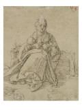Vierge assise donnant le sein à l'enfant Jésus Reproduction procédé giclée par Albrecht Dürer