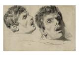 Deux études de la tête d'un homme mort Giclee Print by Denis Auguste Marie Raffet