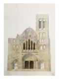 Vezelay, église, façade avant restauration Giclée-Druck von Eugène Viollet-le-Duc