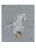 Femme assise, en chemise, tournée vers la gauche Giclée-Druck von Nicolas Vleughels
