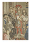 Visit of Louis Xiv at the Gobelins, October 15, 1667 Giclee Print by Brun Charles Le