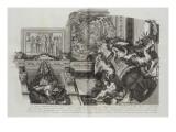 Recueil : Le Grand Escalier du château de Versailles. planche 28 : vue d'un des quatre angles du Lámina giclée por Etienne Baudet