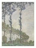 Effet de vent, série des peupliers Giclee Print by Claude Monet
