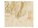 Tête de femme couronnée d'épis de blé (Cérès) Giclée-Druck von Arnould de Vuez
