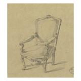 Projet de fauteuils Giclee Print by Antoine Zoegger