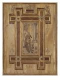 Boiseries de la chapelle du connétable de Montmorency au château d'Ecouen. Saint Jean Reproduction procédé giclée par Jean Goujon