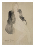 Femme assise nue sous une veste Giclee Print by Auguste Rodin