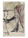 Deux jambes avec bottines sous une jupe rouge, devant un guéridon Giclee Print by Édouard Manet