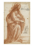 Femme debout tournée vers la droite ; reprise de la figure et de la main Giclee Print by Matteo Rosselli