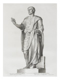 Tableau du Cabinet du Roi, statues et bustes antiques des Maisons Royales Tome I : planche 24 Lámina giclée por Etienne Baudet